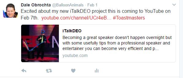 Tweet to Toastmasters